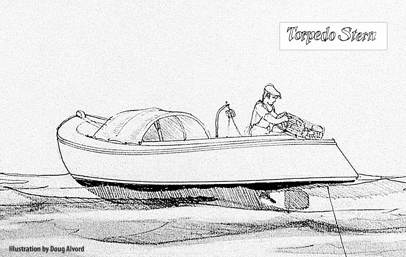 Drawn yacht early 1920s lobsterboat sterned the Boats