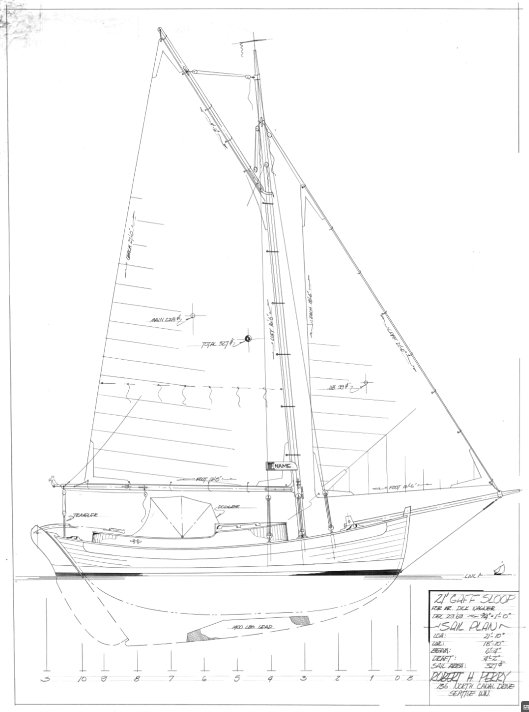 Drawn yacht early H Robert Yacht Perry Perry