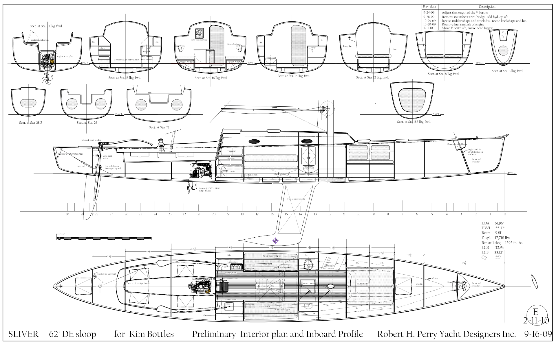Drawn yacht early H Robert Yacht Perry Designers