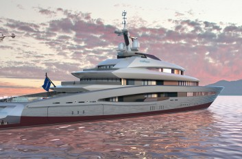 Drawn yacht early To design leading and on