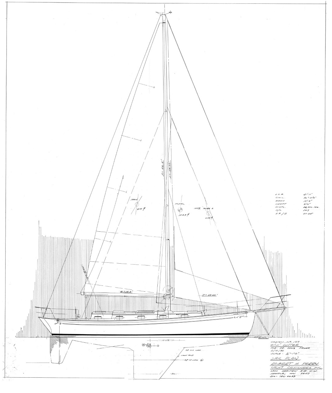 Drawn yacht early YACHT cutter the RUNNER NIGHT