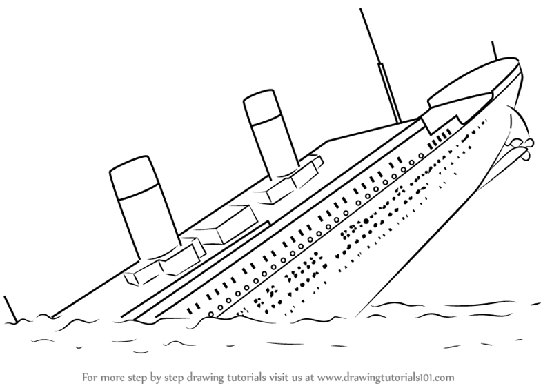 Drawn titanic titanic sinking Sinking Titanic How to (Boats