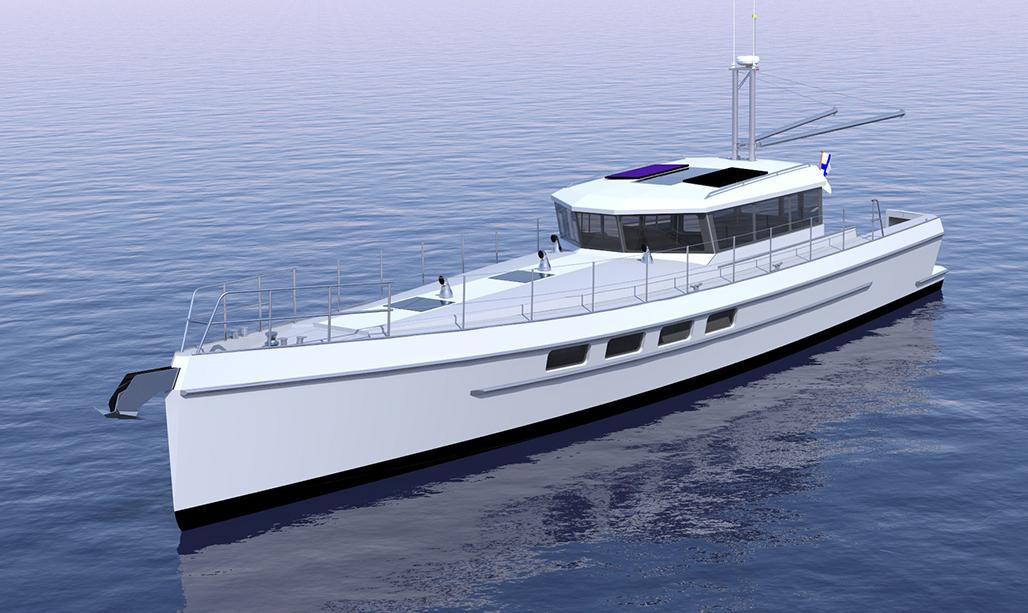 Drawn yacht motor boat  Voyage and Sailing Art
