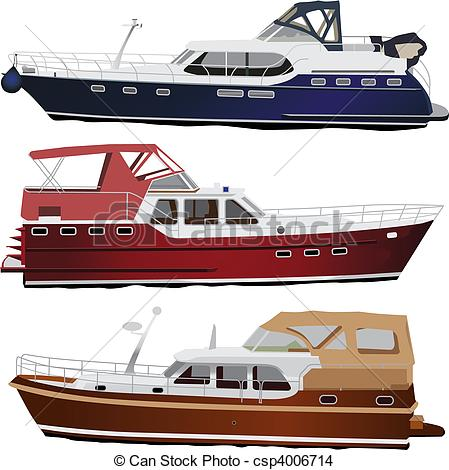 Yacht clipart speed boat  Middle boats sea motor
