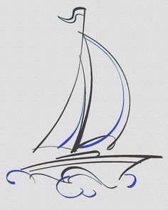 Drawn yacht nautical ship 37 sailing images Quilling Boats
