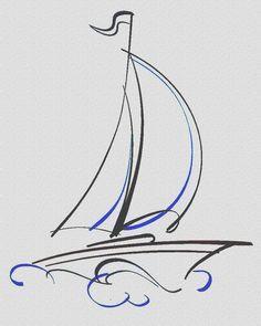 Drawn yacht nautical ship Google on boat Cerca best