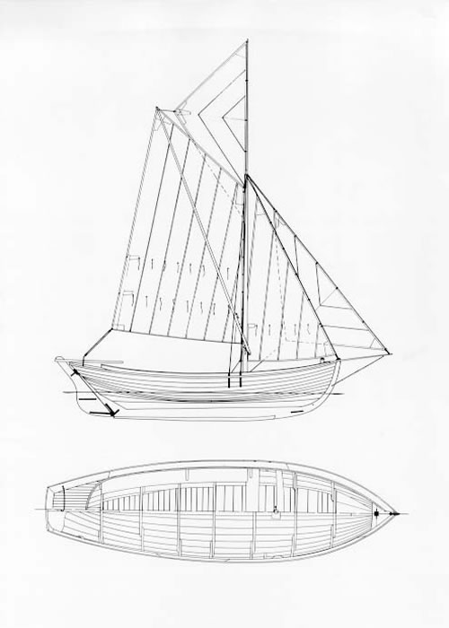 Drawn yacht nautical ship Topsail with and Boats boat