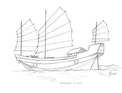 Drawn yacht nautical ship  · Pinterest CHINESE BOATS