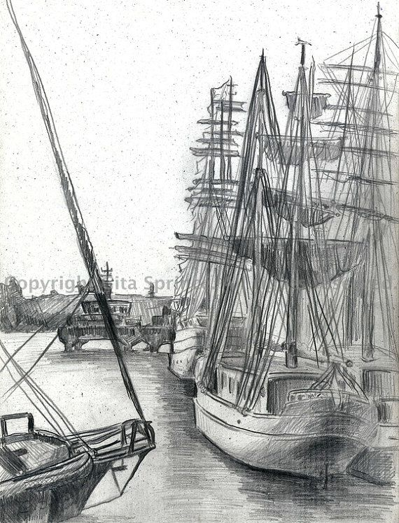 Drawn yacht nautical ship Ships Drawing Pinterest and images