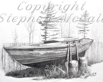 Drawn yacht printable Drawings gifts drawing drawing Giclee