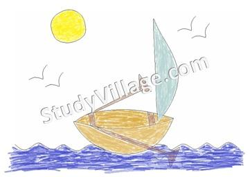 Drawn scenery boat How to Scenery a Printable