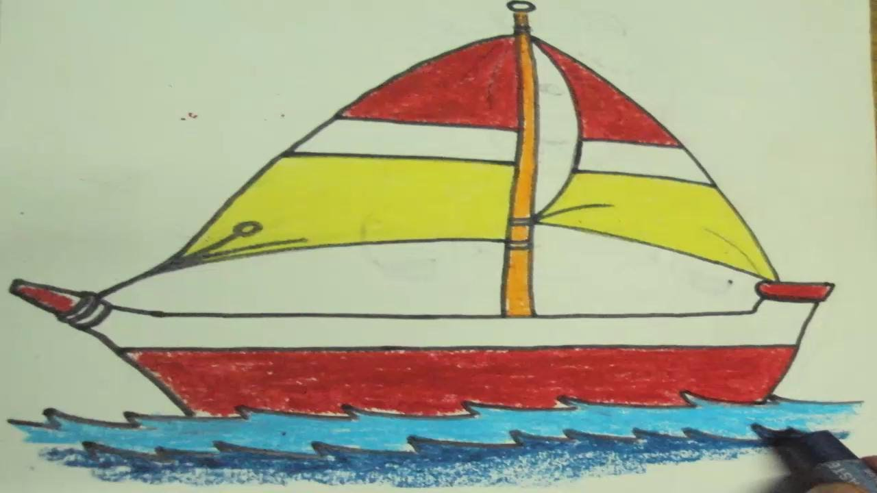 Drawn yacht scenery To a Kids How