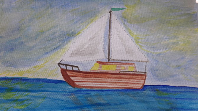 Drawn sailboat painted 7 Sailboat: Pictures) 1 to