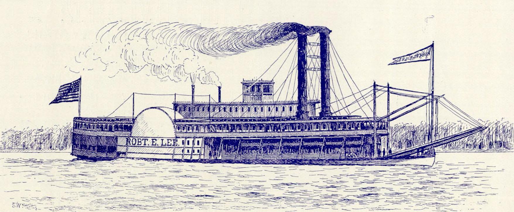 Drawn yacht steamboat Lee E Wikiwand  Robert