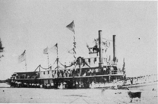 Drawn yacht steamboat Of the River Steamboats for
