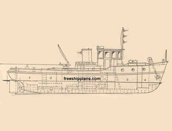 Drawn yacht steamboat Plans harbour on Model Ship