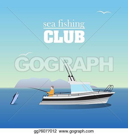 Drawn yacht the sea clipart Marlin boat marlin gg76077012 marine