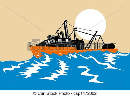 Drawn yacht the sea clipart Stormy Illustration of  battling
