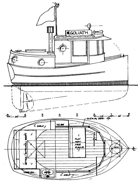 Drawn yacht tugboat Small on boats Pinterest Tug
