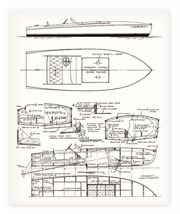 Drawn yacht wooden boat To design How Wooden From