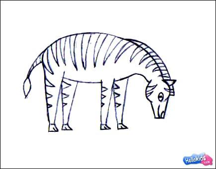 Drawn zebra Draw How step4 how to