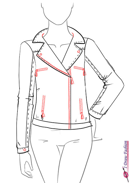 Drawn zipper coloring Step Draw to I a