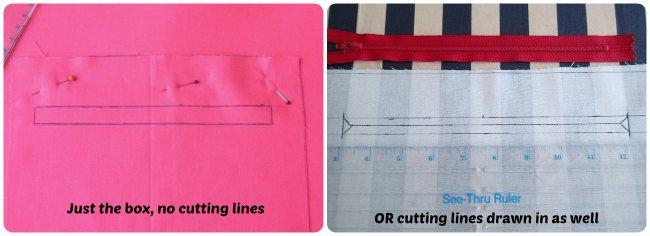 Drawn zipper easy The zipper any a pattern