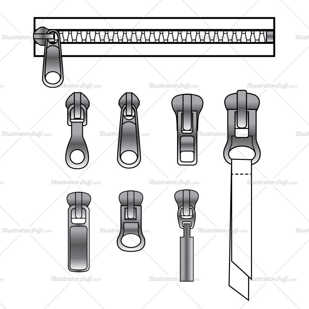 Zipper clipart technical drawing And Zipper Brush Brush Variety