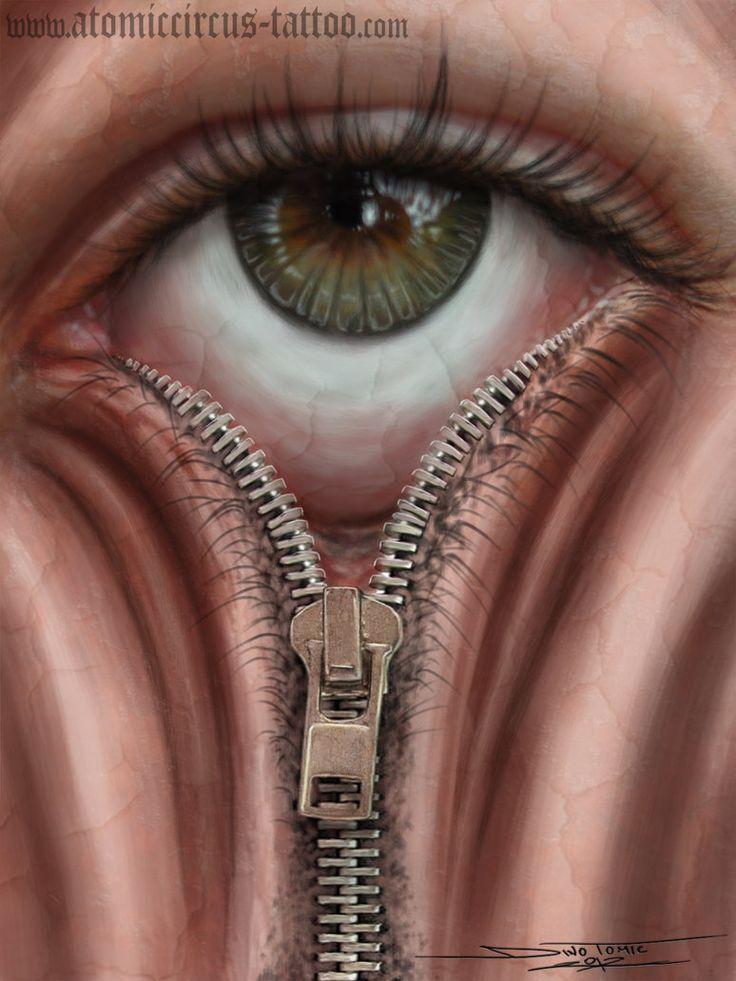 Drawn zipper realistic Drawings by Art;