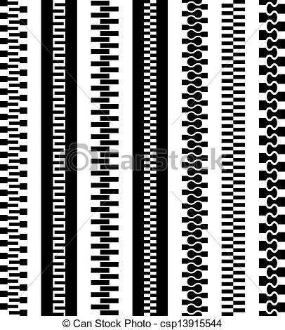 Zipper clipart technical drawing Zipper zipper black symbols vector