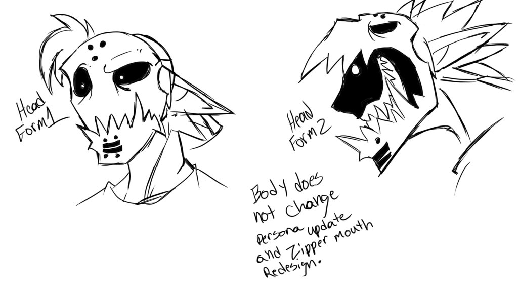 Drawn zipper zipper mouth By Update Persona Redesign Mouth