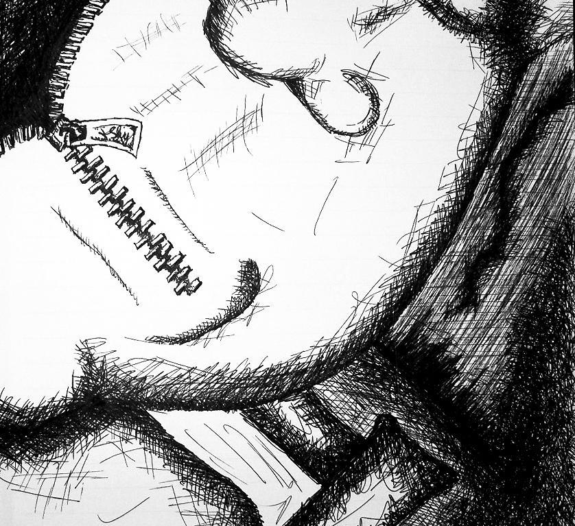 Drawn zipper zipper mouth Jera Drawing Shut Jera by