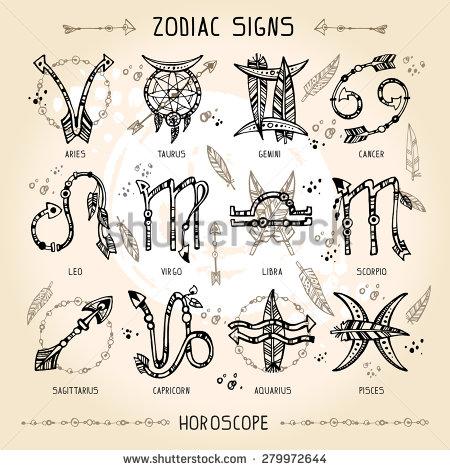 Drawn zodiac Bohemian With  and boho