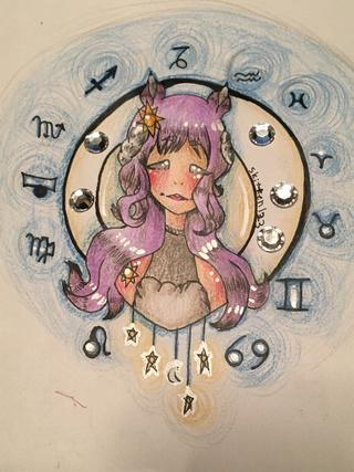 Drawn zodiac crayon #11