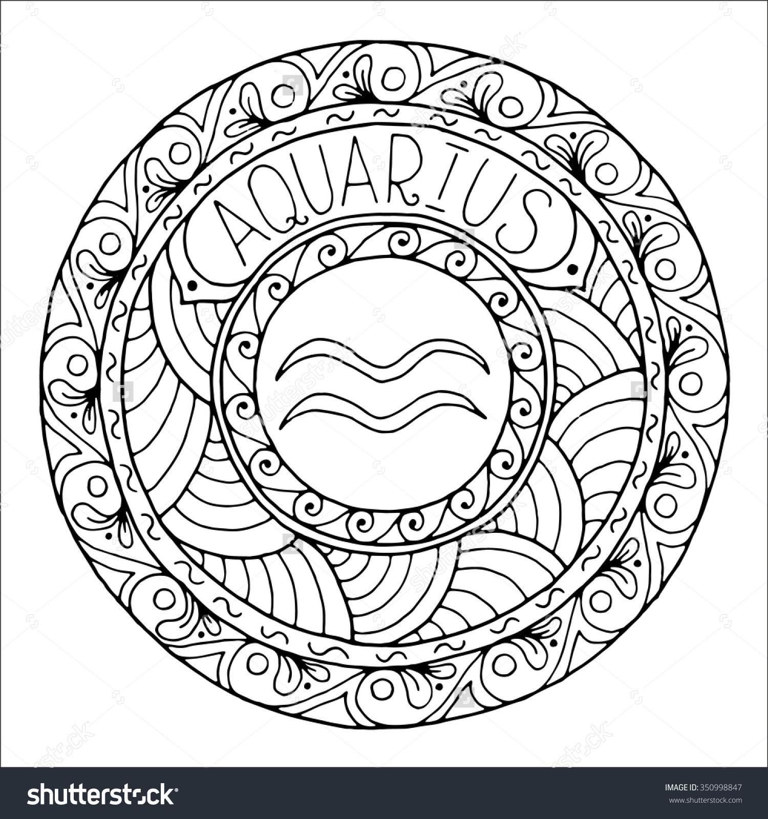 Drawn zodiac crayon #1