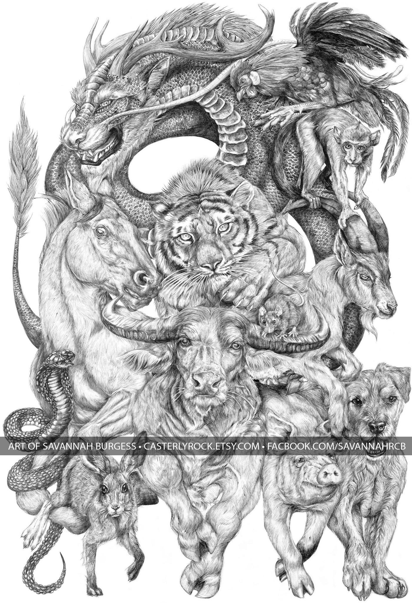 Drawn zodiac giant #3