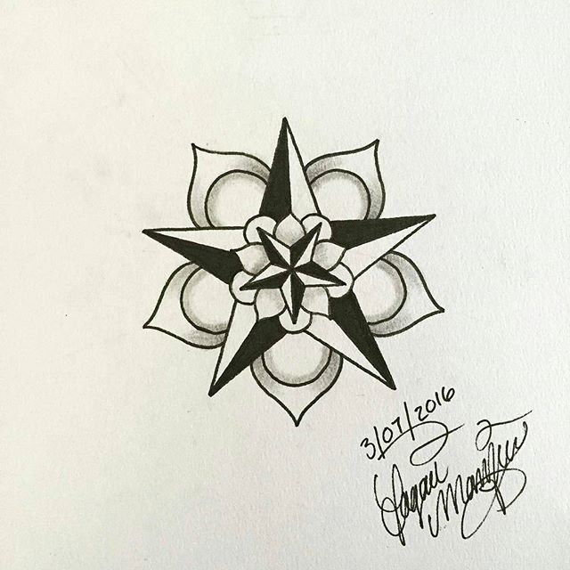 Drawn stare symmetrical Tattoo for from @loagermarkeys 25+