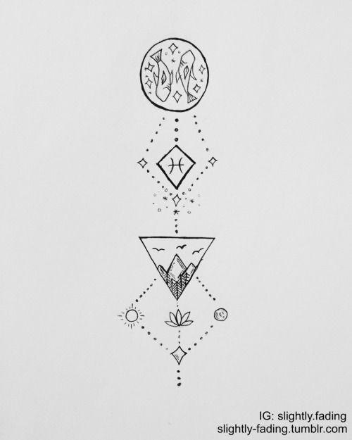 Drawn zodiac tumblr background #9