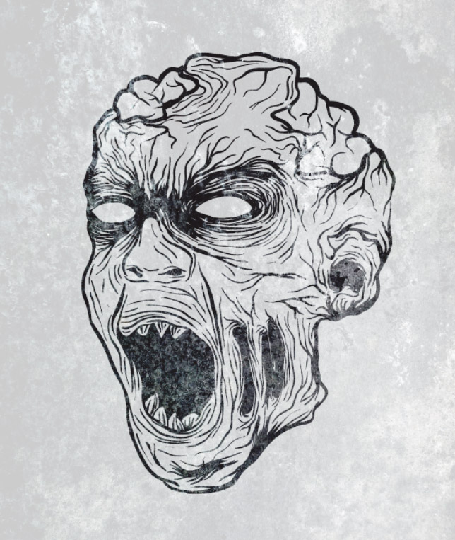 Drawn zombie Vector zombie Zombie Illustration Gruesome