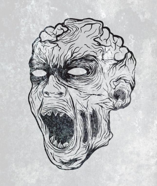 Drawn zombie #9