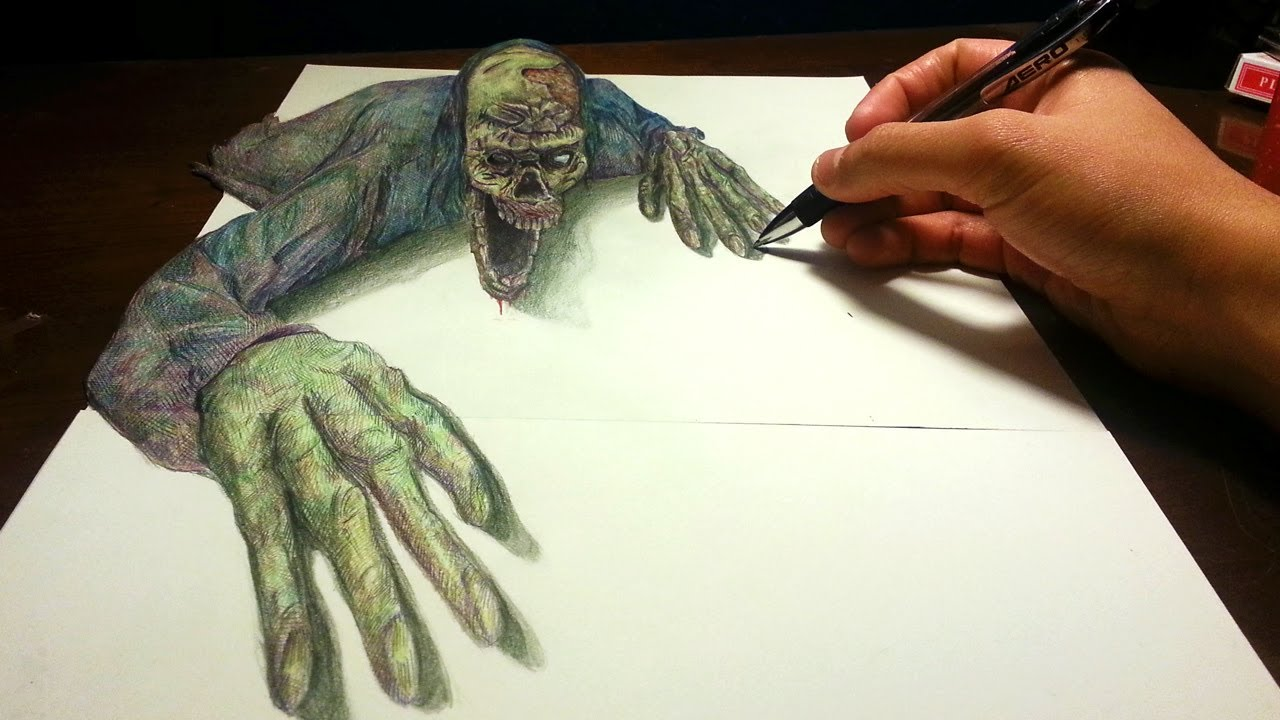 Drawn zombie  Amazing YouTube #2: Anamorphic