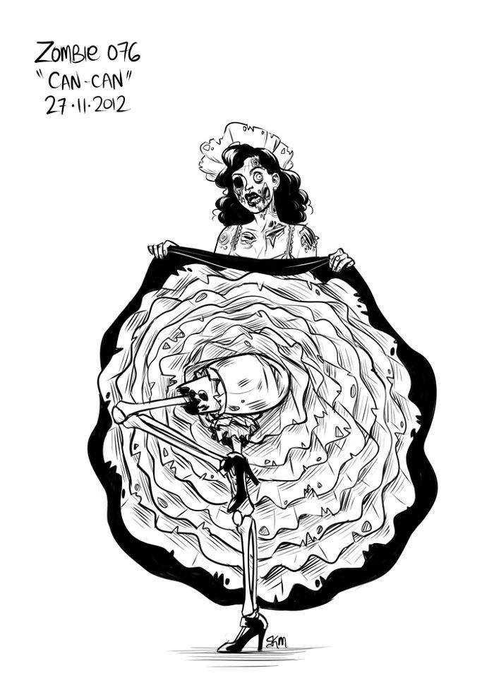 Drawn zombie #12