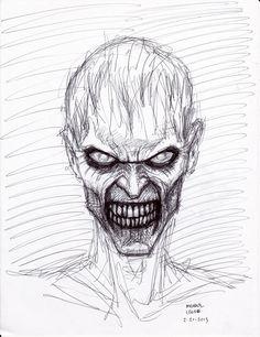 Drawn zombie Blank zombie eyes Of Zombies