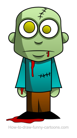 Zombie clipart easy + drawings vector) Zombie Zombie