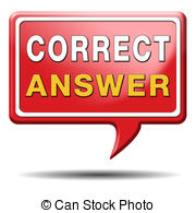 Dream clipart answer Art answer Stock correct