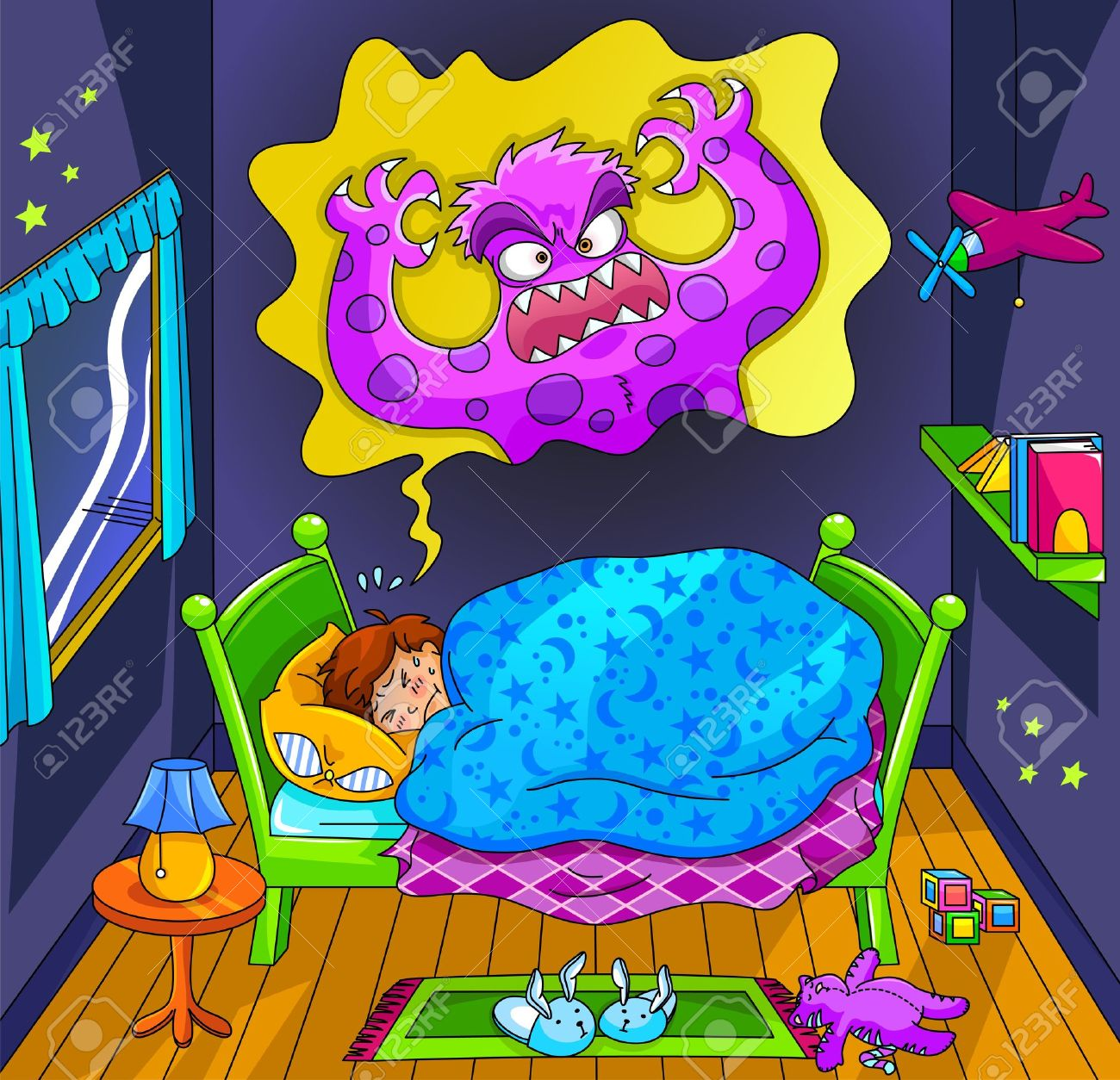Dreaming clipart animated Bad Dream  Clipart