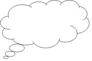Technology clipart i think Clouds thought bubble Dream Clipart