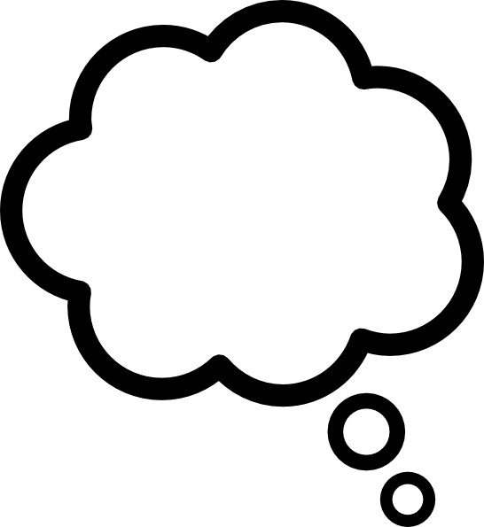 Dreaming clipart transparent Thought Black Clipart Clipart_992 Fz4vjq