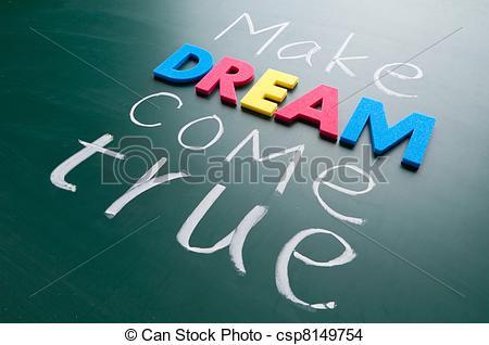 Dream clipart come true Dream of Make true Colorful