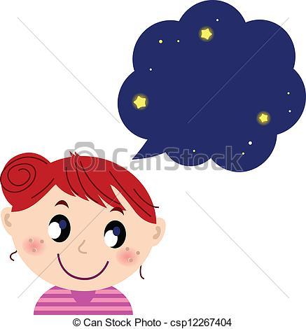 Dream clipart dream bubble Csp12267404 dreaming Little Little bubble